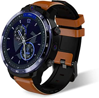 LEM12 Pro 4G LTE Smart Watch 4+64GB Android 10.0 Smartwatch 5MP+8MP Dual Cameras Heart Rate Pedometer Alarm Clock Calendar...
