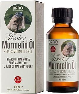 Bano Arlberger Naturprodukte BANO Tiroler Murmelin Öl, reines Murmeltieröl, 100ml