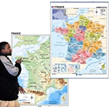 Two-Sided Essential Classroom Map of France with Updated Regions