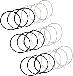 Classical Guitar Strings 3 full sets with Black Nylon for E-1st B-2nd G-3rd and Nylon Core Silver-Plated Copper Wound for D-4th A-5th E-6th