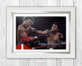 Good With Wood Yorkshire Rumble in The Jungle 30 October 1974 Ali & Foreman 3 Reproduction Autograph photogragh Picture Poster A4 Print(Silver Frame)