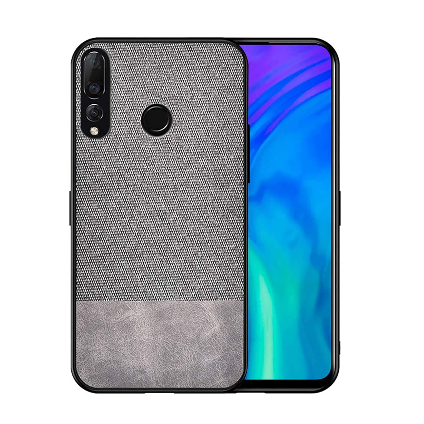 Torubia Cell Phone Case for Huawei Y9 Prime,Ultra-Thin Slim Phone Cover Case Shockproof Armor Protector Full Protective for Huawei Y9 Prime,Splicing Grey