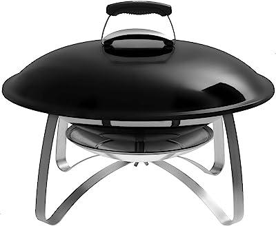 Weber Fireplace, mobile Feuerstelle mit Standfuss, schwarz, 2750