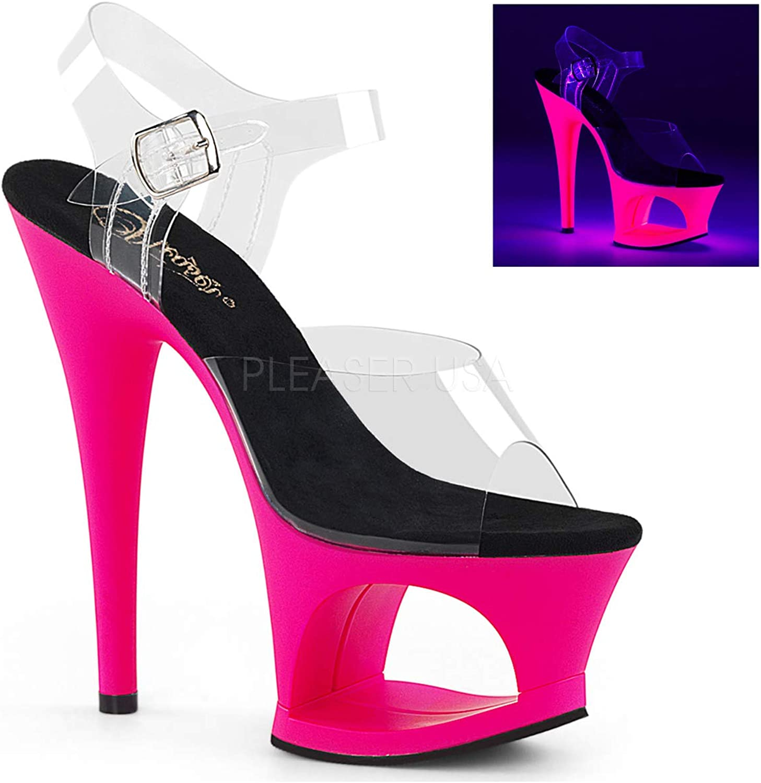 Pleaser Womens MOON-708UV C NHP Sandals