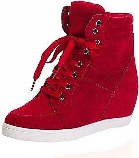 Logobeing Botas de Mujer Cuero Altas Planas con Cordones de Punta Redonda para Mujer de Moda Botines Mujer Plataforma Tacón Zapatos de Mujer Sneakers
