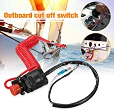 Boat Motor Kill Stop for Yamaha/Tohatsu Outboard Stop Kill Switch Cut Off Switches Switch & Safety Tether Lanyard Plastic