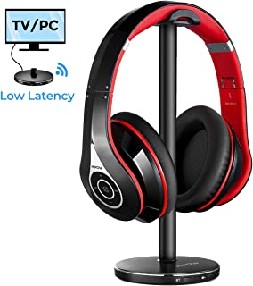 [Actualidad] Mpow 059 Auriculares Inalámbricos para TV con Transmisor Bluetooth, Cascos Bluetooth TV con 25Hrs, Hi-Fi Estéreo, Low Latency para TV, PC, AV Receptor, Móviles, Juegos