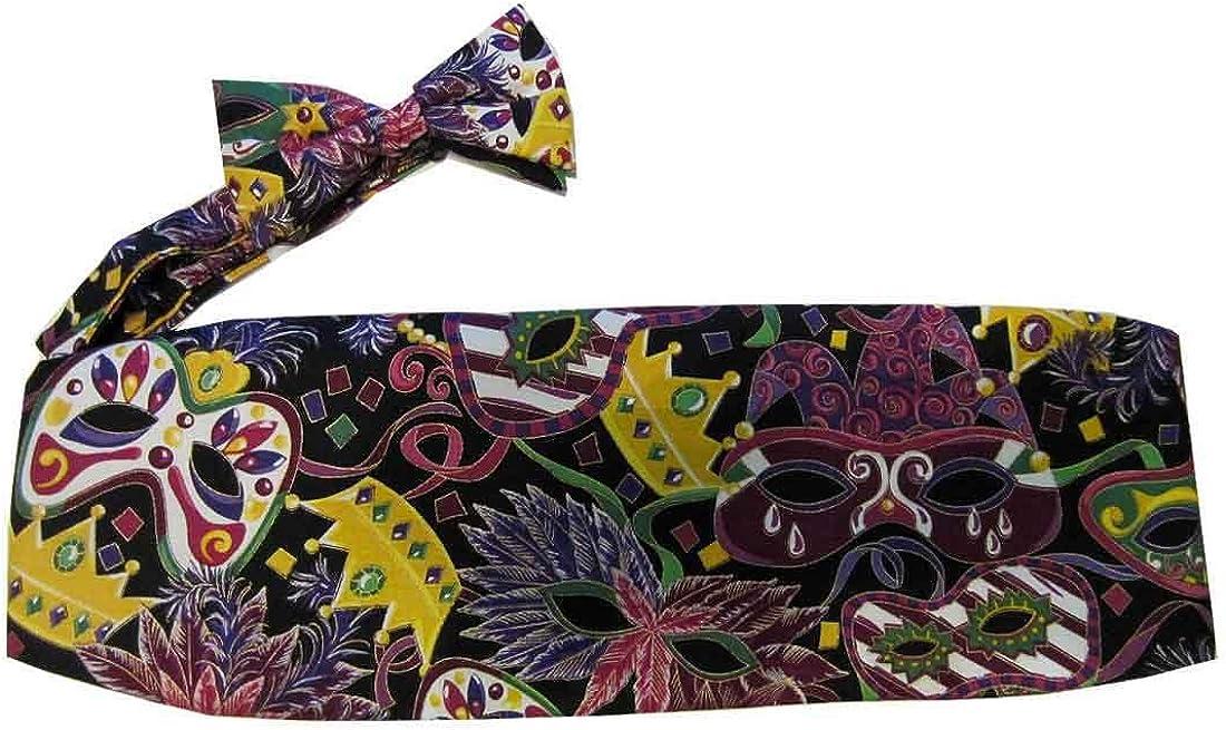 Mardi Gras Masks and Crowns Cummerbund and Bow Tie Set