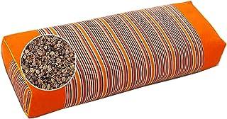 Buckwheat Pillow 100% Organic Coarse Cloth Package. The Pillowcase Has Massaging Effect.Improve Sleep Quality Green (Orange)
