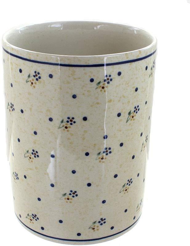 Polish Pottery Country Meadow Utensil Jar