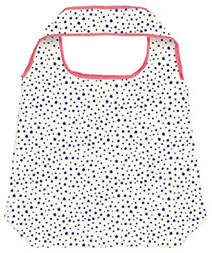Moses Shopper Dalmatiner Dots   Faltbare Einkaufstasche   umweltfreundlich, wiederverwendbar, Stoff, Mehrfarbig, 70 x 50 x 0.5 cm