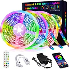 【50FT APP Control Kit】:Controlling the LED strip lights via APP, 24-key remote control and controller. With the APP, you can freely choose to control 16 million colors. The bluetooth strip lights has a smart music mode, built-in sensitivity adjustabl...