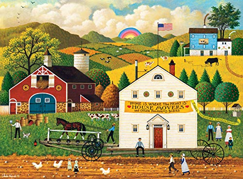 Buffalo Games - Charles Wysocki - House Movers - 1000 Piece Jigsaw Puzzle