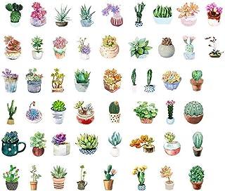 PULABO 50pcs Cactus Plants Stickers Décoration Succulents Journaux Planneurs Scrapbooking DIY Élégant et PopularSafety