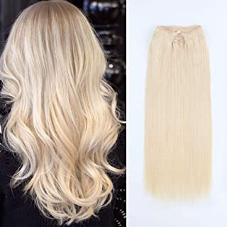 60 blonde hair extensions