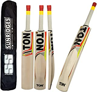 TON Tennis Tape Ball Cricket Bat by SS Sunridges With Free SS Bat Cover - Latest 2016-2017 Bat (Short Handle)