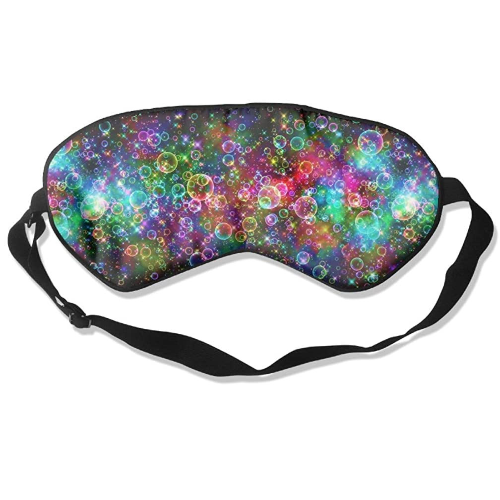 Sleep Mask Bubbles Colorful Bright Eye Cover Blackout Eye Masks,Soothing Puffy Eyes,Dark Circles,Stress,Breathable Blindfold for Women Men
