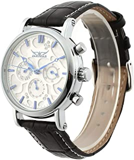 #NA Reloj mecánico automático Completo Jaragar, Reloj de Negocios, Caja de Acero Inoxidable Multifuncional, Reloj de Pulse...