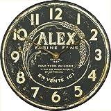 Lascelles London Alex 'harina para Hacer' Reloj de Pared - 36 cm