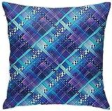 N \ A Goth Gotik - Funda de almohada para decoración del hogar, diseño gótico, ligera, suave, cuadrada, de felpa, 45,7 x 45,7 cm, lavable a máquina