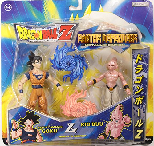 Dragonball Z ~ BATTLE DAMAGED GOKU vs. KID BUU (METALLIC PAINT) - JAKKS