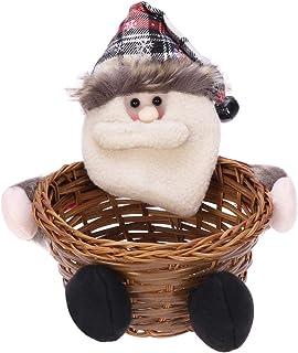 comprar comparacion Toyandona - Cesta de almacenamiento para dulces de Navidad, decoración para fiestas, suministros de fiesta de Navidad medi...