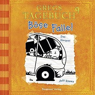 Böse Falle!     Gregs Tagebuch 9              Autor:                                                                                                                                 Jeff Kinney                               Sprecher:                                                                                                                                 Marco Eßer                      Spieldauer: 1 Std. und 16 Min.     196 Bewertungen     Gesamt 4,7