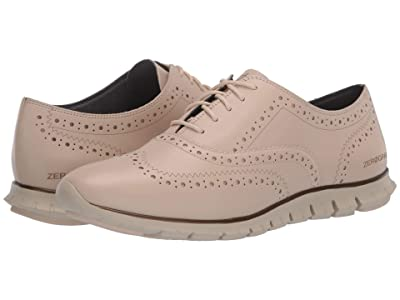 Cole Haan Zerogrand Wing Oxford Closed Hole (Brazilian Sand Leather/Ivory) Women