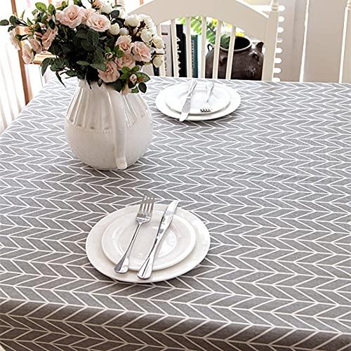 NHhuai Mantel de Plástico para Fiestas Interiores o Exteriores Cumpleaños Bodas Picnics Tablero de ajedrez Amarillo de líneas geométricas Simples