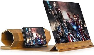 ذره بین صفحه نمایش 12 اینچی برای تلفن های هوشمند - صفحه نمایش پروژکتور ذره بین 3D تلفن برای فیلم ها ، فیلم ها و بازی ها - پایه تلفن تاشو با تقویت کننده صفحه - سازگار با تمام گوشی های هوشمند