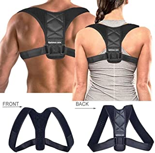 New Best Posture Corrector Posture Support Brace for Women and Men, with Underarm Pads, FDA, CE certificates,Optimus Care,Figure 8 Support Ideal for Shoulder Support, Back & Neck Pain Relief (L)