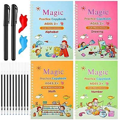Magic Practice Copybook for Kids, English Reusa...