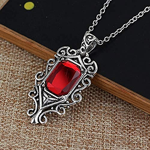 NC110 The Mortal Instruments City of Bones Necklace Isabelle Lightwood Angelic Power Red Crystal Pendant Necklaces for Women Men Gifts