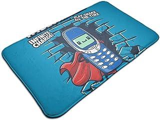 HUTTGIGH - Felpudo para entrada de Nokia superhéroe, antideslizante, de 19,5 x 31,5 pulgadas