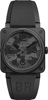 Instruments 42mm Black Ceramic Men's Watch BR 03-92 Black CAMO