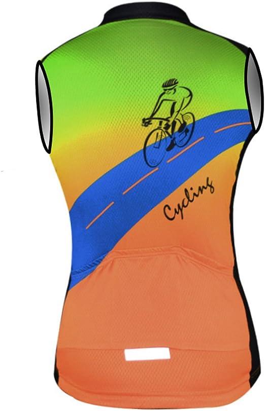 Aogda Cycling Vest for Men Bike Jerseys Team Biking Sleeveless Tops Clothing