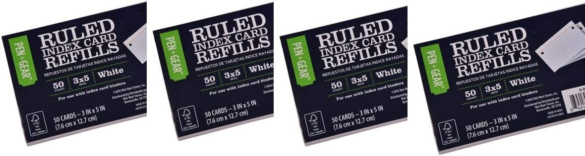 Pen + Gear Index Max 52% OFF Card Refill White Ruled 3 CT x p 5 50 Outlet SALE IN