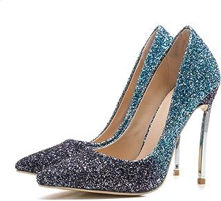 toma LZ Tacones Altos Altos Altos Puntiagudos de Las Mujeres Tacones Altos Zapatos Antideslizante Vestido Alto,azul,41  Hay más marcas de productos de alta calidad.
