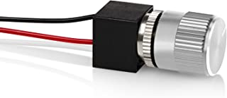 12 Volt DC Dimmer for LED, Halogen, Incandescent - RV, Auto, Truck, Marine, and Strip Lighting - LONG SHAFT - SILVER