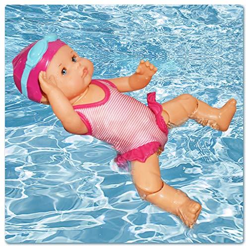 99AMZ Kinder Wasserspielzeug für die Badewanne, Interaktive Elektrische Schwimmpuppe Baby Puppe mit Schwimm Funktion Für Badezeit (C)