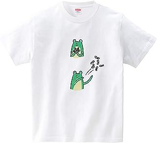カエルが放り投げる(Tシャツ?ホワイト) (オワリ)