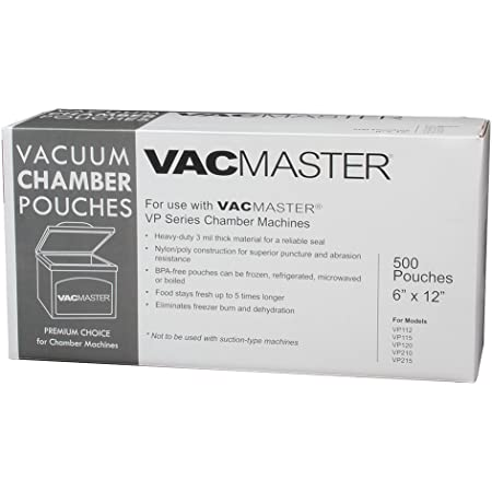Genuine VacMaster 30614 4 Mil 8 Inch by 10 Inch Vacuum Chamber Pouches