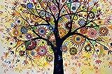 Colorido Árbol De La Vida - Madera Puzzle 1500 Piezas Adultos Ocio Diy Toys Decoracion