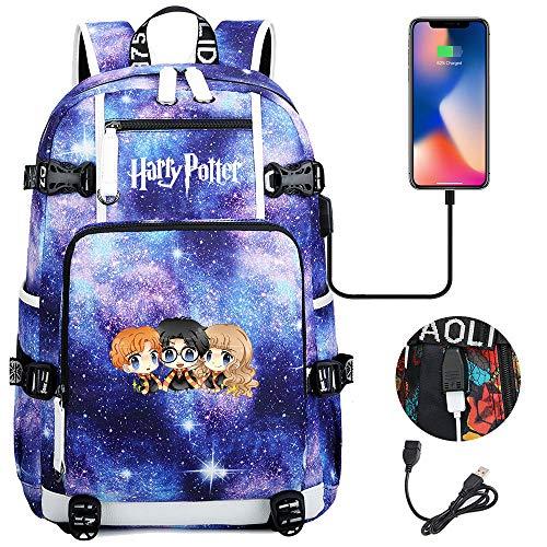 Harry Potter zaino, amici divertirsi,moda Laptop Rucksack Leisure School Bag per outdoor/Sport/Viaggi 18,5/11,8/5,9 POLLICI Colore-D