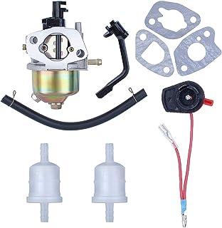 Haishine Carburador Carb Junta Interruptor de Parada Interruptor de la Manguera de Combustible Juego de Filtro para Honda GX160 GX200 168F 5.5HP 6.5HP Motor de Motor generador de 4 Tiempos