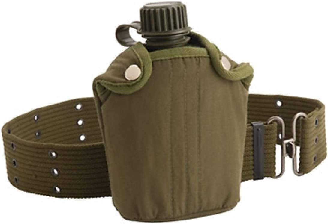Coleman Military Canteen with Cover and Belt : Camping Canteens : Sports & Outdoors