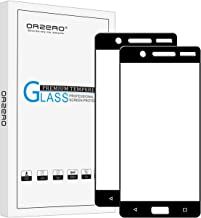 (2 Pack) Orzero Compatible for Nokia 5 Tempered Glass Screen Protector, (Full Coverage) 2.5D Arc Edges 9 Hardness HD Anti-Scratch Anti-Fingerprint (Lifetime Replacement)