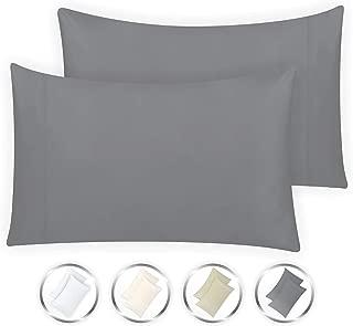 California Design Den Hotel Style True Luxury 100% Pure Cotton 1000-Thread-Count Standard Size Solid Dark Grey (21