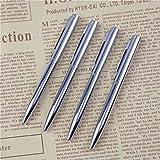 ZunBo 10 penne a sfera in metallo a forma di tasca, mini penna a sfera portatile a olio, in acciaio inox