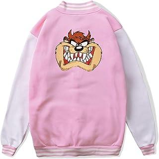 VJJ AIDEAR Tazmanian Devi Baseball Uniform Jacket Sport Coat Boys' Long Sleeve Hoodie Sweatshirt Black